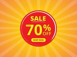 verkoop banner sjabloonontwerp in gele en rode kleuren vector