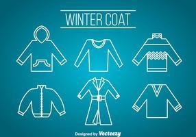 Wintercoat Pictogrammen Vector