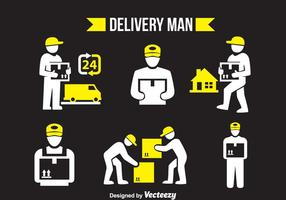Delivery Man Vector Set
