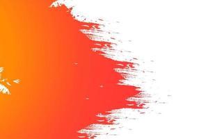 abstracte geel oranje aquarel penseelstreek achtergrond vector