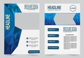 blauwe polygoon cover set