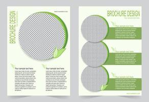 groene brochure sjabloonontwerp