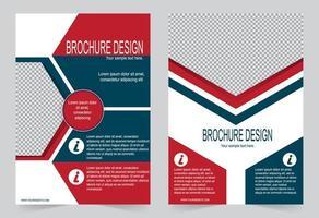 rode en blauwe geometrische cover