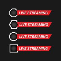 live streaming ontwerpset element