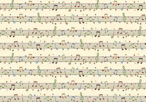 Naadloze Gratis Vector Achtergrond Met Muzieknotities