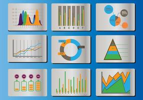 Bell curve icon vector set