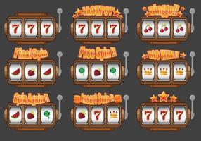 Slot machine ui design vector