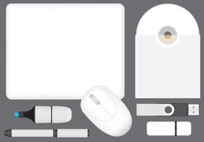 Tech Mockup Promotie Sjabloonvectoren vector