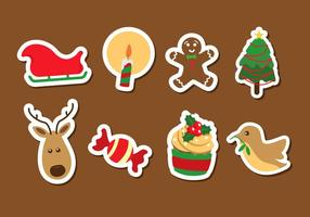Kerst pictogram vector