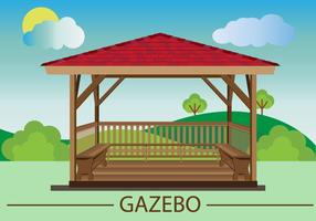 Gazebo flat design vector
