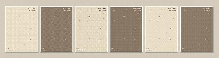 bruin en crème patroon cover of poster set
