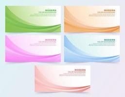 grote se van abstracte kleurrijke golvende zakelijke stijl achtergrond