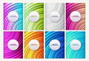 set van gestreepte abstracte kleurrijke patronen