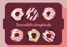 Gratis Set Kleurrijke Donuts Vector Achtergrond
