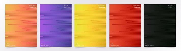 set van kleurrijke geometrische lijn achtergronden
