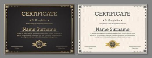 luxe zwart-wit certificaten