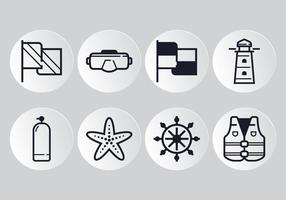 Nautische lijn icoon vector