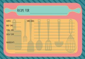 Gratis Recept Kaart Vector
