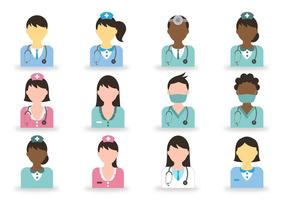 Dokter En Verpleegster Pictogram