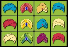 Turban vector set
