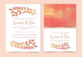 Vector bruiloft uitnodigen