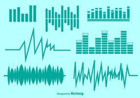 Vector audio symbolen ingesteld