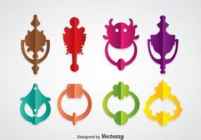 Kleurrijke deurknocker vector sets