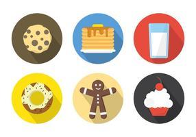 Ontbijt Pictogrammen Achtergrond vector