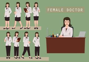 Vrouwelijke dokter vector