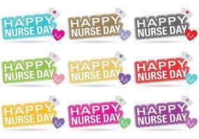 Vector titels van de verpleegstersdag