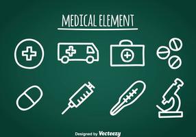 Medische Doddle Icons vector
