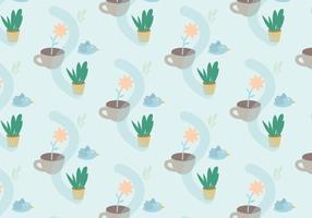 Planten Pastelpatroon vector