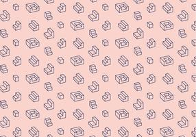 Geometrisch overzicht patroon vector