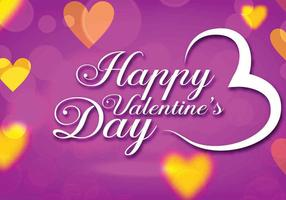 Paars Valentijnsdag Vector