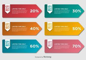 Grote verkoop labels vector