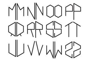 Gratis Sjabloon Letters Vector