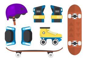 Rollerschaatsen Vector Backgorund