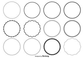 Cirkelvormen instellen vector