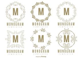 Monogram sjabloon set vector