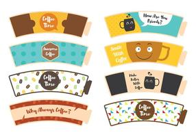 Koffiemouw Sticker vector
