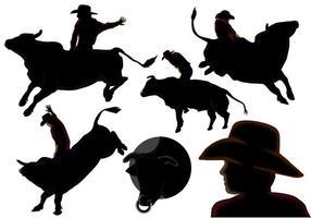Rijd de stierenvectoren vector