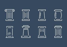 Gratis Roman Pillar Vector Set