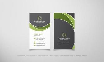 groene en grijze abstracte creatieve visitekaartjes