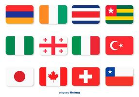 Assorted Vlag Icon Set vector