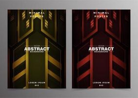 abstracte tech minimale covers ontwerpen