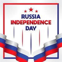 Gelukkig Rusland dag wenskaart