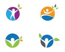 paars, blauw, oranje, groen symbool van de menselijke gezondheid