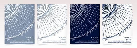 set van abstracte minimale voorbladsjablonen