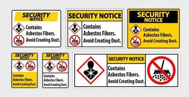 veiligheidsinstructies om asbest te vermijden
