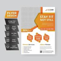 oranje zakelijke flyer